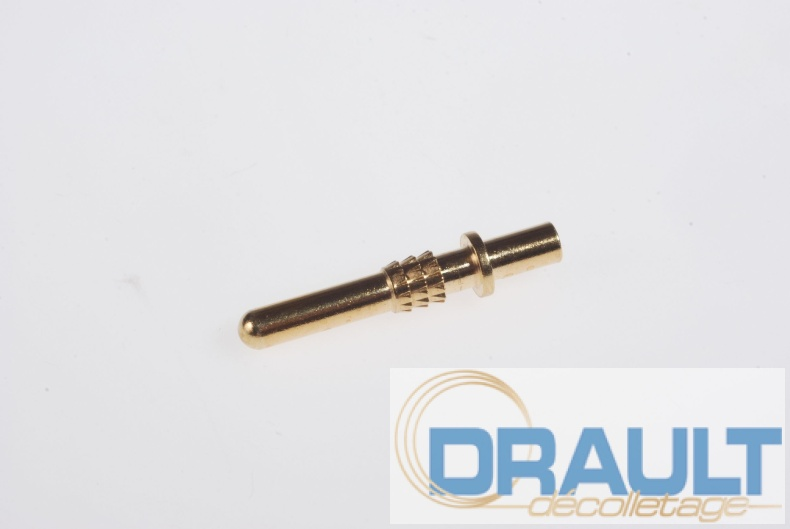 Machining brass pin