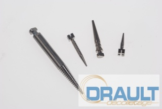 Machining dental screws and implants