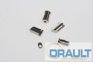 Machining spacer, screw, metallic rivets