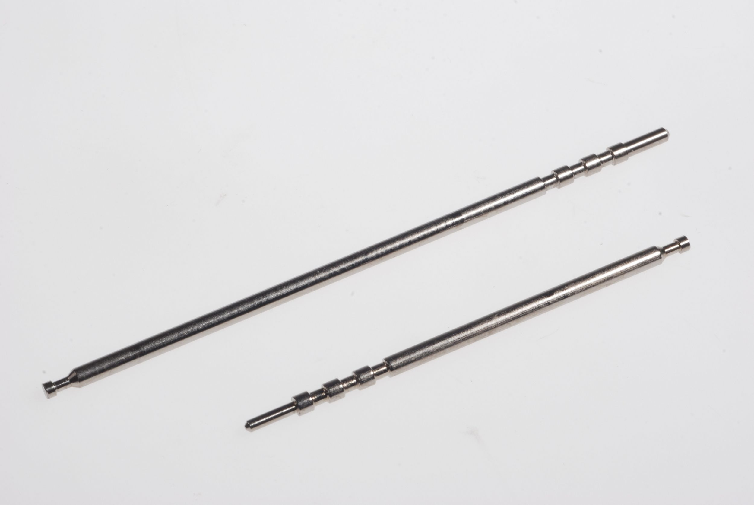 Nickel-plated steel pins
